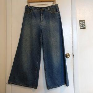 Super Wide Leg Palazzo Jeans 12 Boho Hippie